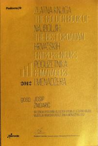 zlatna knjiga 2012